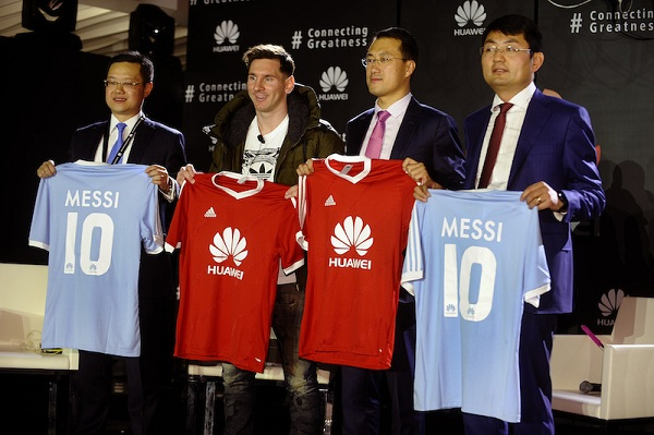 Huawei's Executive team during Lionel Messi's announcement as Global Brand Ambassador for Huawei