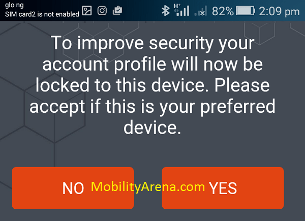 gtbank android app - to improve security