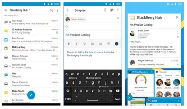 BlackBerry hub apps for Android