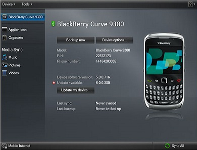 BlackBerry Device Manager