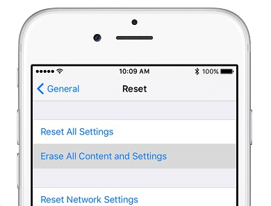 how to reset network settings iphone